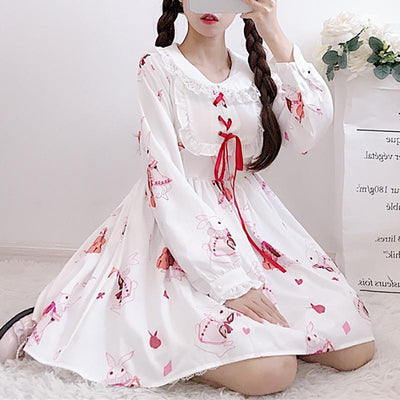 Bunny Musician Dress SD00304 - SYNDROME - Cute Kawaii Harajuku Street Fashion Store