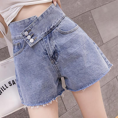 High Waist Denim Shorts SD00140 - SYNDROME - Cute Kawaii Harajuku Street Fashion Store