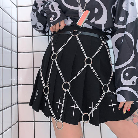 Cross Pleated Skirt SD01745 - SYNDROME - Cute Kawaii Harajuku Street Fashion Store