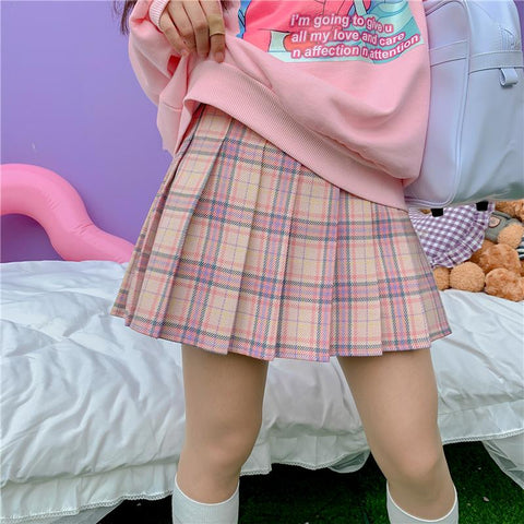 Colorful Plaid Skirt SD01484