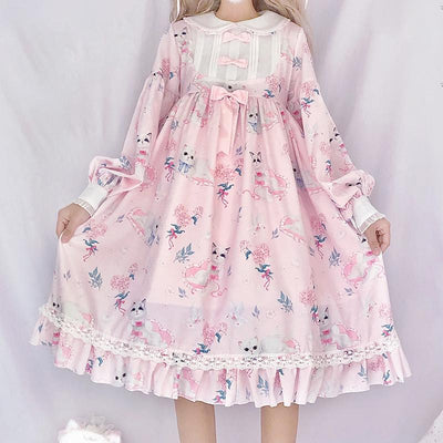 Cat Soft Dress SD00344 - SYNDROME - Cute Kawaii Harajuku Street Fashion Store
