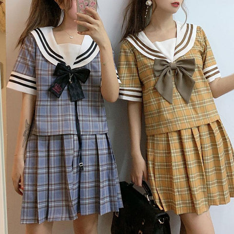 Plaid Couple School Uniform SD00243