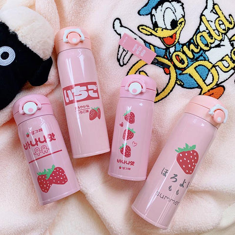 Strawberry Thermos Drink Bottle SD00302 - SYNDROME - Cute Kawaii Harajuku Street Fashion Store