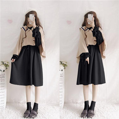 Lantern Loose Sleeve Lace Collar Dress SD00563 - SYNDROME - Cute Kawaii Harajuku Street Fashion Store