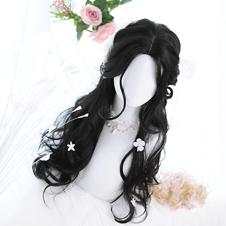 Black Curly Lolita Wig SD00976 - SYNDROME - Cute Kawaii Harajuku Street Fashion Store