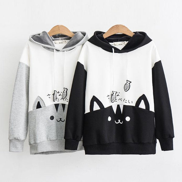Neko Fish Play Sweater SD01755 - SYNDROME - Cute Kawaii Harajuku Street Fashion Store