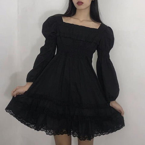 Black Me Lolita Dress SD02289 - SYNDROME - Cute Kawaii Harajuku Street Fashion Store
