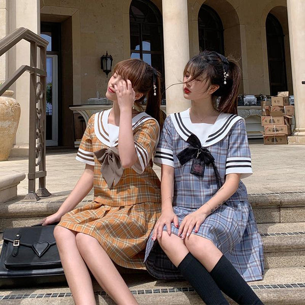 Plaid Couple School Uniform SD00243 - SYNDROME - Cute Kawaii Harajuku Street Fashion Store