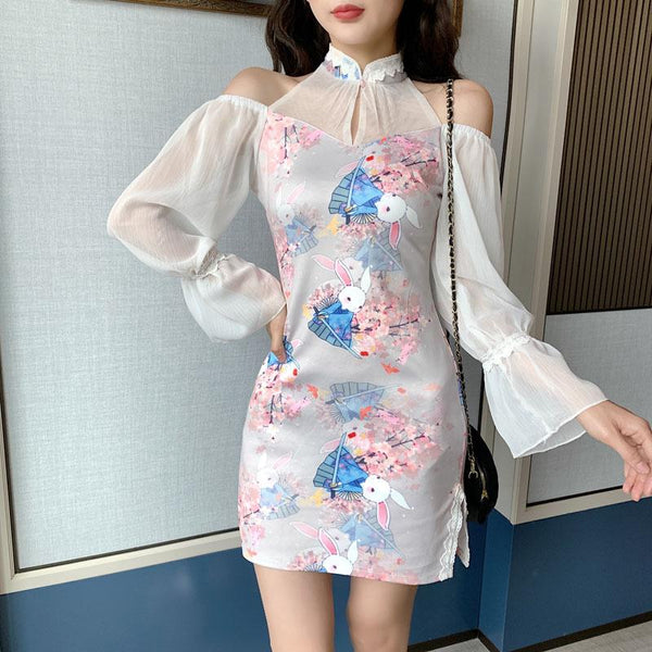 Bunny Night Cheongsam Dress SD01560 - SYNDROME - Cute Kawaii Harajuku Street Fashion Store