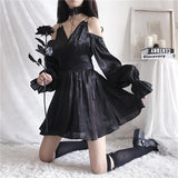 Double Shoulder Strap Lantern Sleeve Dress SD00990 - SYNDROME - Cute Kawaii Harajuku Street Fashion Store
