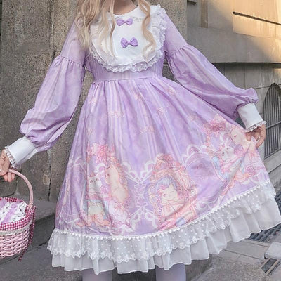 Bed Time Cat Dress SD00382 - SYNDROME - Cute Kawaii Harajuku Street Fashion Store