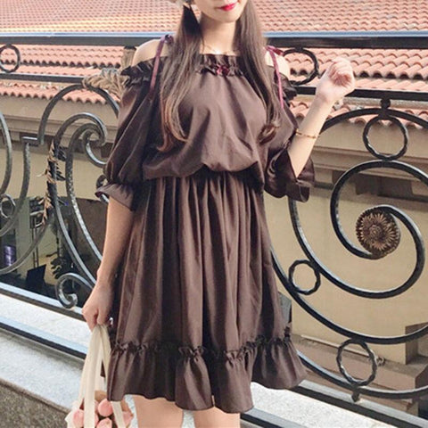 Chocolate Dress SD00196 - SYNDROME - Cute Kawaii Harajuku Street Fashion Store