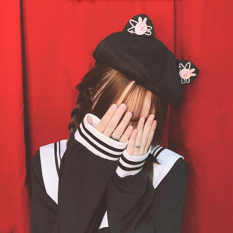 Bunny Planet Beret SD00300 - SYNDROME - Cute Kawaii Harajuku Street Fashion Store