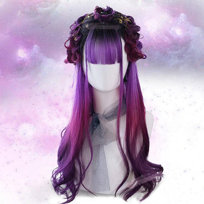 Purple Galaxy Wig SD02285 - SYNDROME - Cute Kawaii Harajuku Street Fashion Store