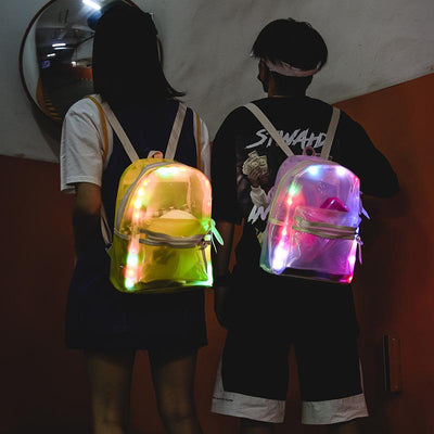 Transparent Led Backpack SD01670 - SYNDROME - Cute Kawaii Harajuku Street Fashion Store