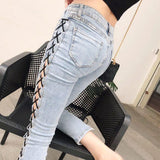 Side String Denim Pants SD00010