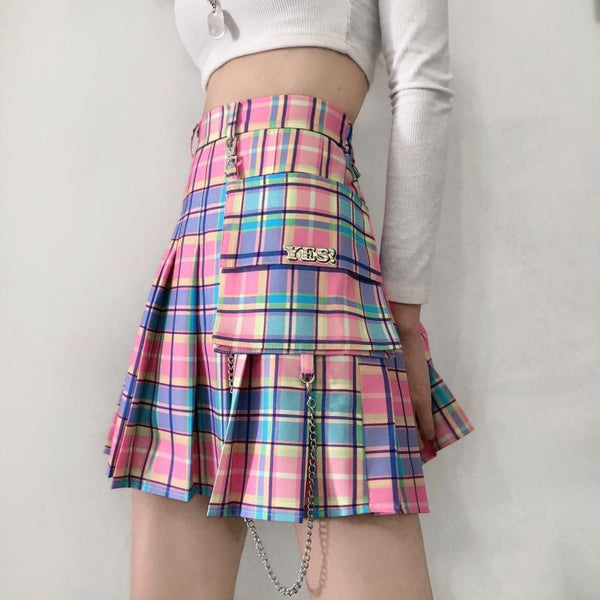 Pastel Yes Pleated Skirt SD00876