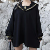 Rose Embroidered Sailor Sweater Dress SD00584 - SYNDROME - Cute Kawaii Harajuku Street Fashion Store