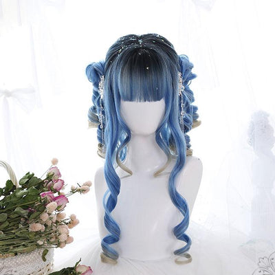 Blue Ancient Wig SD01058 - SYNDROME - Cute Kawaii Harajuku Street Fashion Store