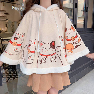 Lucky Cat Cape SD00146 - SYNDROME - Cute Kawaii Harajuku Street Fashion Store