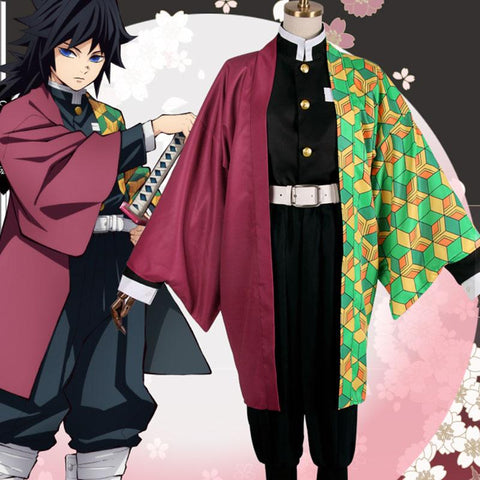 Demon Slayer: Kimetsu No Yaiba Giyuu Tomioka Cosplay  SD01260