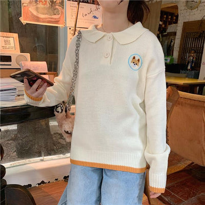 Shiba Inu Sweater SD00450 - SYNDROME - Cute Kawaii Harajuku Street Fashion Store