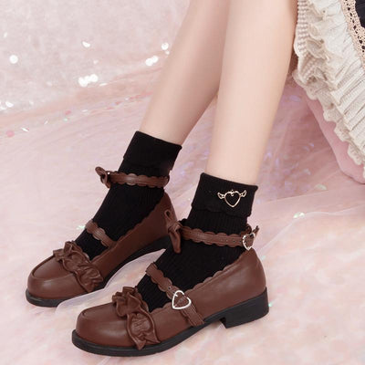 Pendant Heart Ruffle Socks SD00612 - SYNDROME - Cute Kawaii Harajuku Street Fashion Store