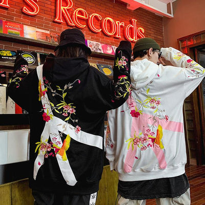 Peaceful Floral Hoodie SD00814 - SYNDROME - Cute Kawaii Harajuku Street Fashion Store