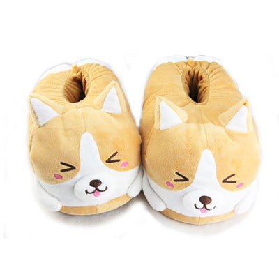 Shiba Inu Doge Slipper SD01170 - SYNDROME - Cute Kawaii Harajuku Street Fashion Store