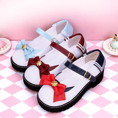 Sailor Bow Star Shoes SD00032 - SYNDROME - Cute Kawaii Harajuku Street Fashion Store