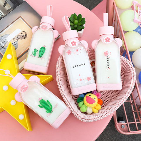 Kawaii Glass Drink Bottles SD01368