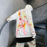 Peace full Floral Hoodie SD00814