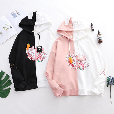 Bunny Neko Sweater Hoodie SD00796 - SYNDROME - Cute Kawaii Harajuku Street Fashion Store