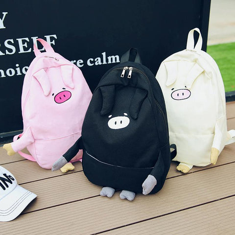 Pig Face With Legs Backpack SD02135