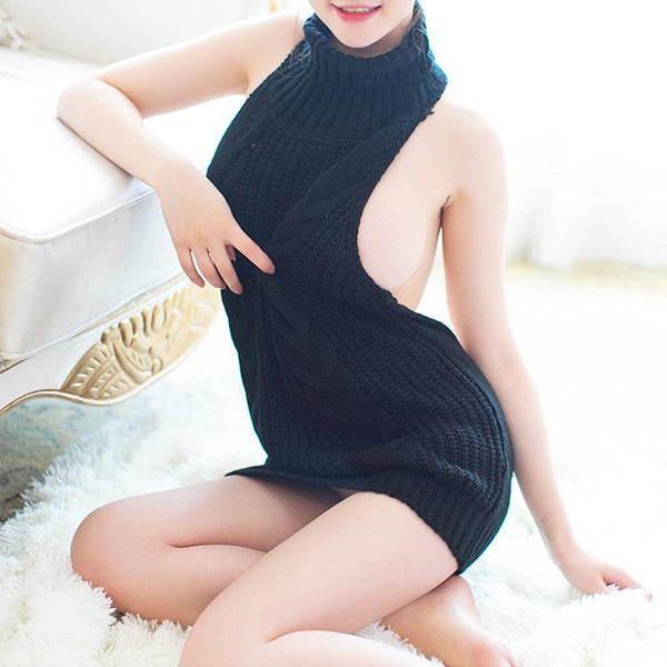 Virgin Killer Sweater Dress SD00767