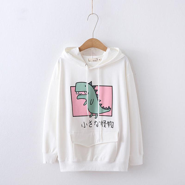 Dinosaur Hoodie Sweater SD00702 - SYNDROME - Cute Kawaii Harajuku Street Fashion Store