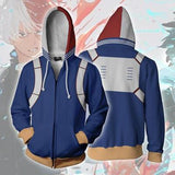 My Hero Academia All Might/Ochaco Uraraka/Shoto Todoroki/Katsuki Bakugo/Izuku Midoriya Zipper Hoodie Sweater SD00741