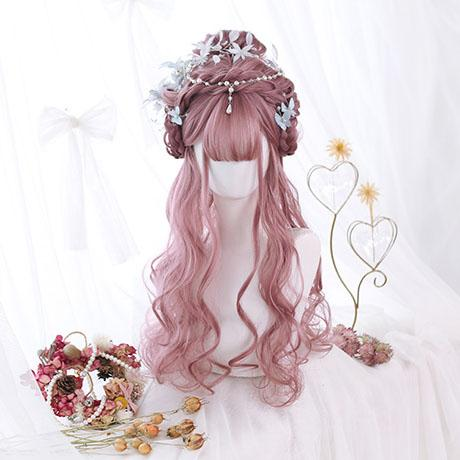 Cherry Powder Long Curly Wig SD01534 - SYNDROME - Cute Kawaii Harajuku Street Fashion Store