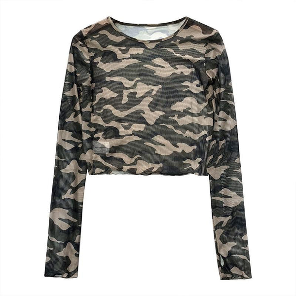 Camouflage Mesh Shirt SD00848 - SYNDROME - Cute Kawaii Harajuku Street Fashion Store