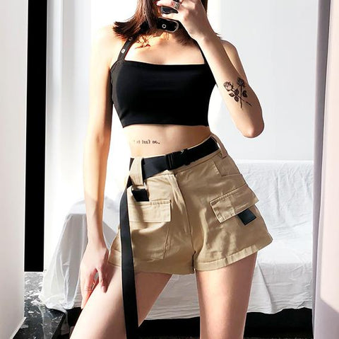 High Waist Multi Pocket Shorts SD00861