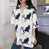 Meow Neko Blouse SD00213 - SYNDROME - Cute Kawaii Harajuku Street Fashion Store