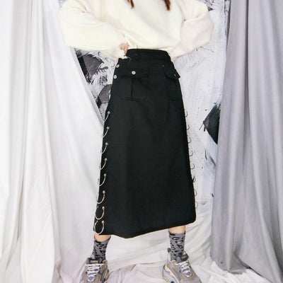 Punk Rings Long Skirt SD00462 - SYNDROME - Cute Kawaii Harajuku Street Fashion Store