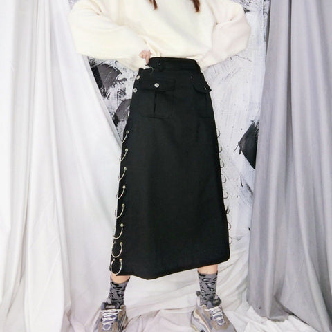 Punk Rings Long Skirt SD00462