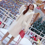 Knitted High Collar Loose Long Sweater Dress SD00539