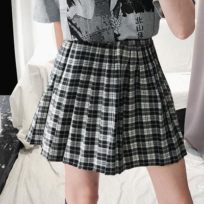 Black&White Plaid Skirt SD00490 - SYNDROME - Cute Kawaii Harajuku Street Fashion Store