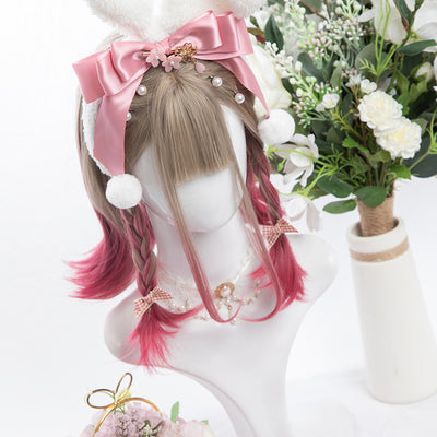 Rose Pink Warm Wig SD00278 - SYNDROME - Cute Kawaii Harajuku Street Fashion Store