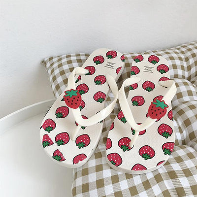 Strawberry Slippers SD01125 - SYNDROME - Cute Kawaii Harajuku Street Fashion Store