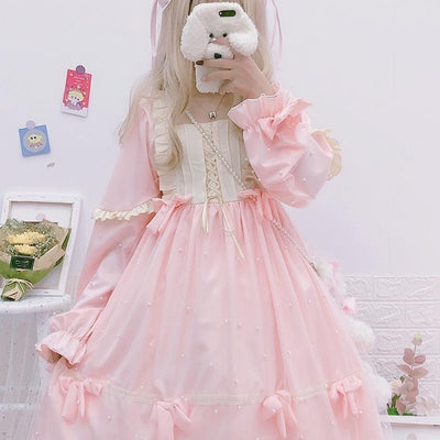 Pearl Soft Girl Dress SD00315 - SYNDROME - Cute Kawaii Harajuku Street Fashion Store