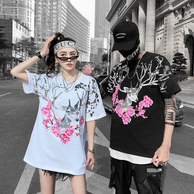 Blossom Deer T-shirt SD00864 - SYNDROME - Cute Kawaii Harajuku Street Fashion Store