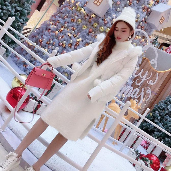 Knitted High Collar Loose Long Sweater Dress SD00539 - SYNDROME - Cute Kawaii Harajuku Street Fashion Store